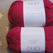 Sandnes Garn Duo Ull + Bomull Röd