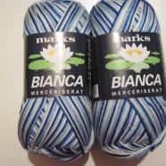 M&K garn Bianca ombre Blå mel.
