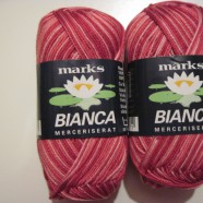 M&K garn Bianca ombre röd rosa mel.