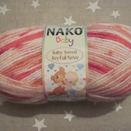 Nako Babygarn  Tweed joyful new. Rosa mel.